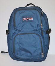 "New JanSport Merit Backpack 17"" Laptop Sleeve Book Bag Black Rucksack Blue"
