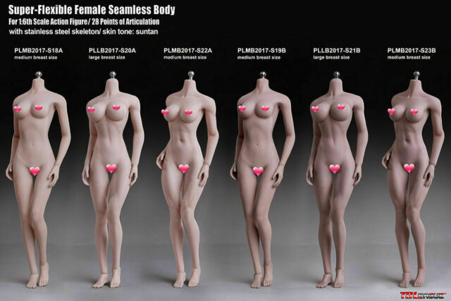 Head Sculpt Doll Gifts 1:6 Scale Female Seamless Body Large Bust Figure