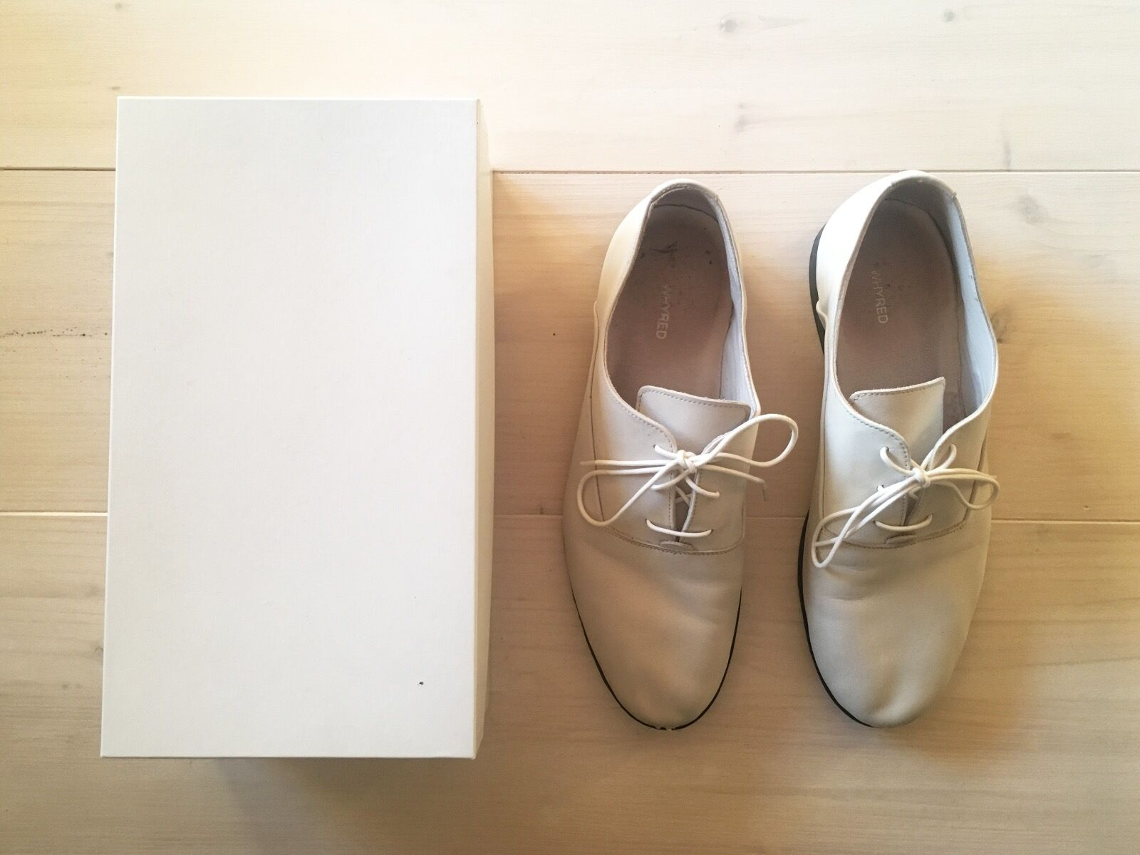 WHYRED off white leather shoes, size 44, Stockholm, great condition