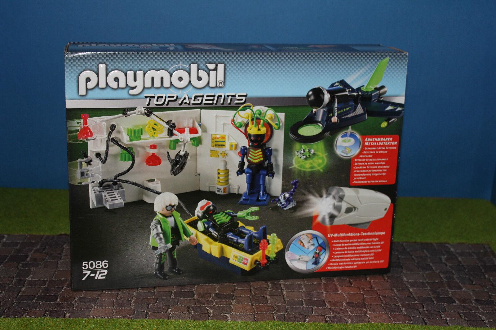 Playmobil 5086 Laboratorio Top Agents Nuevo   Embalaje Original Misb
