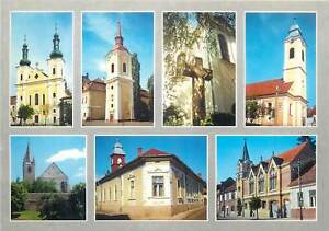 Romania-Marosvasarhely-Targu-Mures-churches-multi-views-postcard-Transylvania
