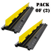 Pack Of 2) Pyle Pcblco26 Cable Protective Cover Ramp Cord/wire Concealment Track on sale