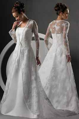BRAND NEW LACE COAT PLUS SIZE WEDDING GOWN SZ 18,20,22,24,26,28,30