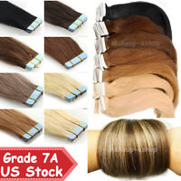 Promotion 20/40pcs Tape in 100% Remy Human Hair Extensions EP Virgin Skin Weft
