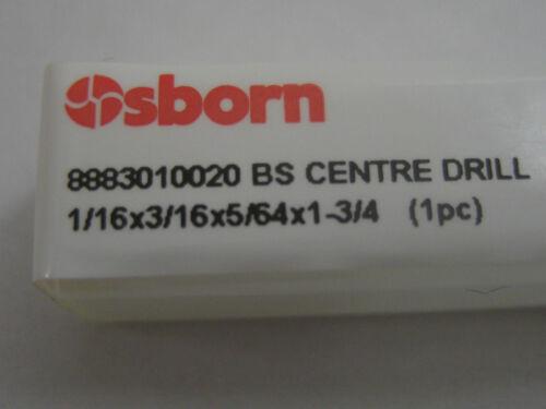 """CENTRO HSS TRAPANO FATTA DA OSBORN//Europa Strumento 8883010020 #P73 BS2 1//16/"""" 1.59mm"""