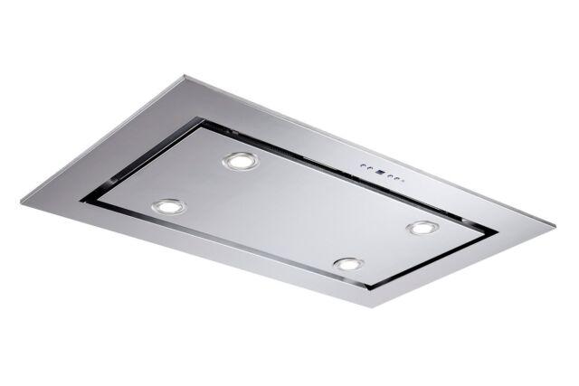 F.BAYER Deckenhaube Lux 96x56cm Edelstahl LED 925m³/h Fernbedienung EEK A