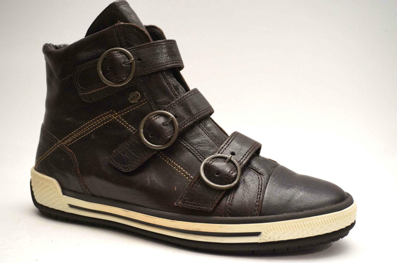 2072gabor zapatos botines velcro tamaño 37 () oscuro marrón de cuero botas