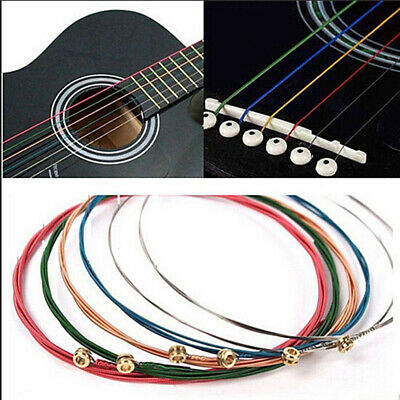rainbow steel material acoustic guitar strings musical instrument parts e a 774560815540 ebay. Black Bedroom Furniture Sets. Home Design Ideas