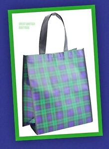 Fab Black Watch Tartan Shopping Bag - Foldaway, Re-Useable