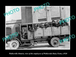 OLD-LARGE-HISTORIC-PHOTO-OF-WALKERVILLE-ONTARIO-CANADA-THE-DAIRY-WORKERS-c1920