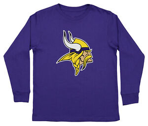 1cd15225 Outerstuff NFL Youth Minnesota Vikings Long Sleeve Team Logo Tee | eBay