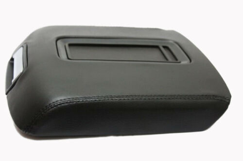 Sierra Synthetic Leather Black Console Armrest Cover Fits 14-18 Chevy Silverado