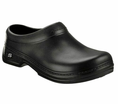 Skechers Work Oswald Balder Clogs 76778EC Mens Foam Slip Resistant Shoes