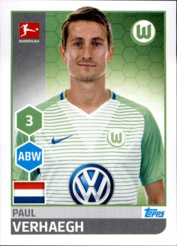 Paul Verhaegh TOPPS Bundesliga 2017//2018 Sticker 260