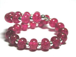 VictoriaGail-Lampworked-Beads-Hot-Pink-Tiny-Lg