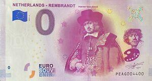 BILLET-0-EURO-NETHERLANDS-REMBRANDT-PORTRET-VAN-JAN-SIX-2019-NUMERO-4400