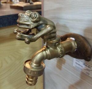 Bon Image Is Loading Tap Brass Frog Spigot Vintage Garden Hose Faucet