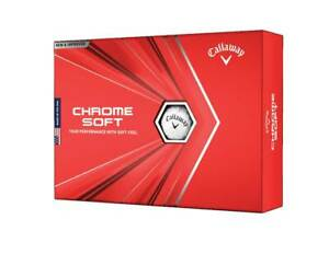 NEW-Callaway-2020-Chrome-Soft-White-Golf-Balls-Drummond-Golf