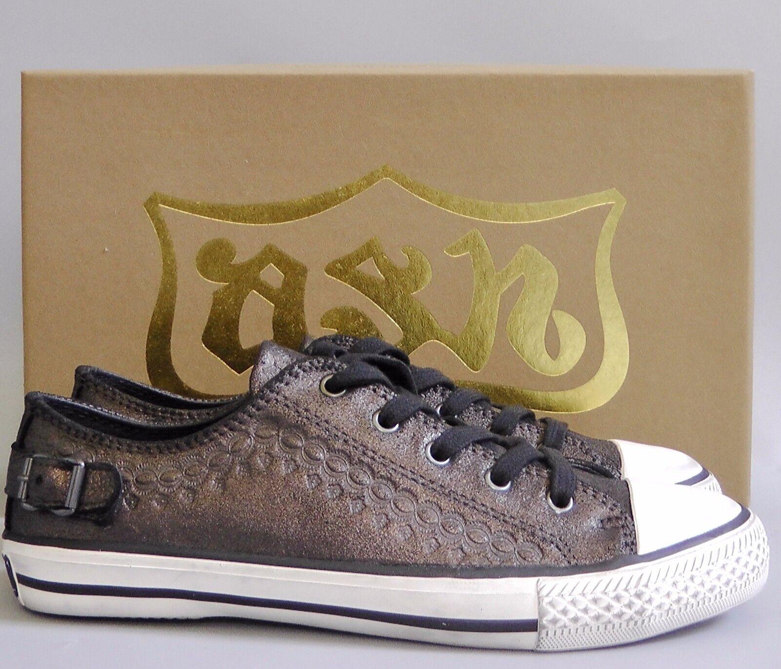 New with Box Ash Leather scarpe da ginnastica scarpe~ Midnight Marronee EUR38