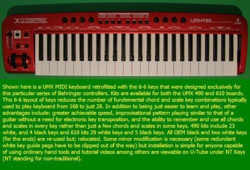 34 key sets Fits UMX 610 Symmetrical Keyboard Keys Keyboard NOT included