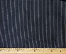 "Black Pinstripe Dupioni Stripes 100% Silk Fabric 54"" Wide, By The Yard (SD-638G)"
