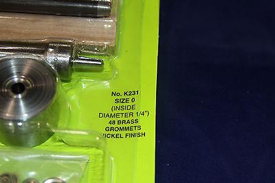"1//4/"" Grommet Kits Nickel Plated Size #0 K231"