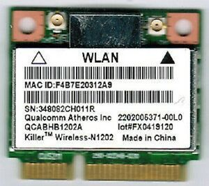 Qualcomm Killer Wireless-N 1202 Network Adapter WLAN Drivers Download Free