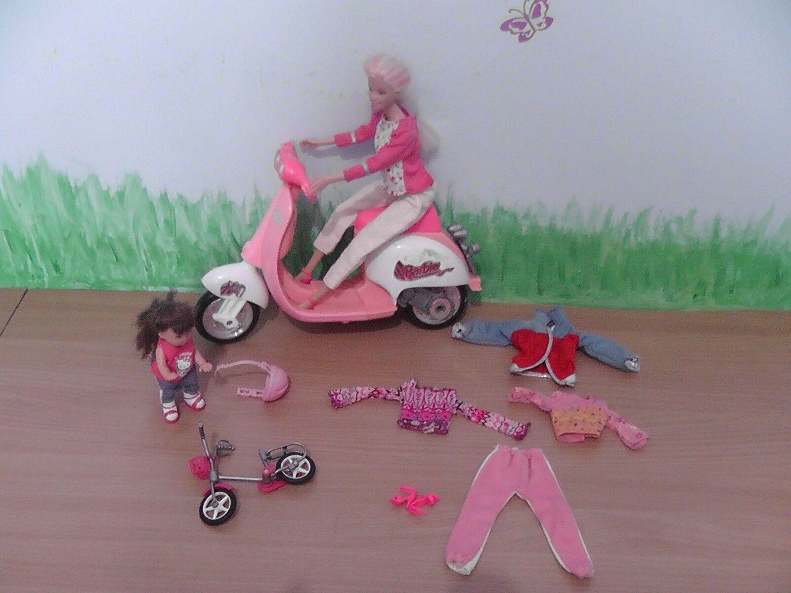 BARBIE motorbike ,bike with dolls and accessories