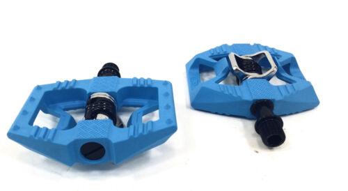 Blue//Black Crank Brothers Double Shot 1 Clipless /& Platform Bike MTB Pedals
