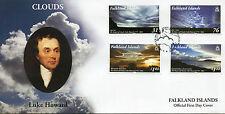 Islas Malvinas 2015 FDC nubes Luke Howard Namer de nubes 4v Set Sellos de cubierta