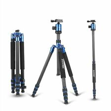 Professional Carbon Fiber Tripod Z818C Travel Monopod&Ball Head for DSLR Camera