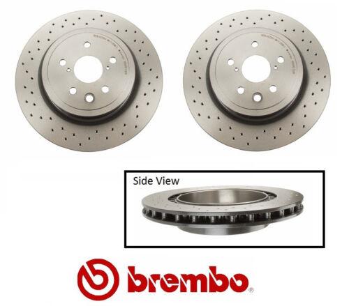 Genuine Brembo Rear Crossed Drilled Brake Rotors Lexus IS-F Set of 2 #09A30111
