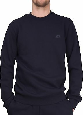 More Mile Vibe Brushed Fleece Mens Sweatshirt Gym Training Workout Navy
