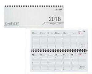 Schreibtisch Kalender 32 Blatt Schreibtischquerkalender 2018 Ebay