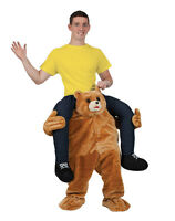 Carry Me Teddy Piggy Back Mascot Adults Ride On Fancy Dress Costume