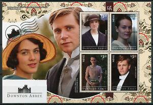 éNergique Nevis 2014 Neuf Sans Charnière Downton Abbey Lady Sybil Crawley 4 V M/s Série Tv Timbres