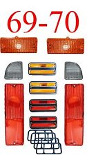 69 70 Chevy 10Pc Tail Light, Deluxe Side & Amber Parking Light Kit C/K Truck