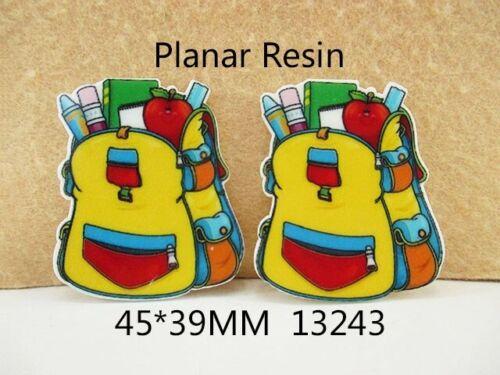 5 Pcs Back to School Acrylic Flatback Planar Resin DIY Craft Scrapbooking  Decor