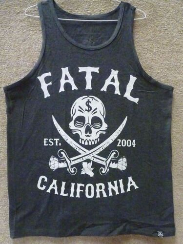 """Charcoal Heather Fatal Men/'s Tank Top /""""Sword Mens/"""""""