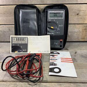 Vintage Fluke 75 Multimeter Series 2 W/ Manual