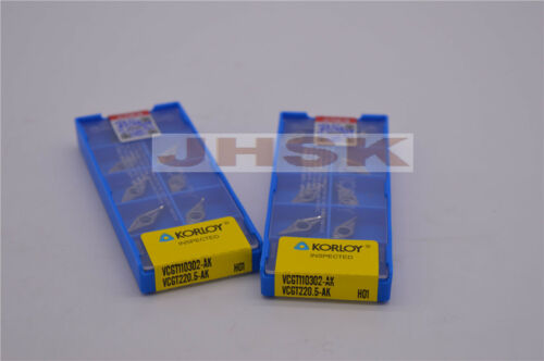 10pcs VCGT110302-AK H01 VCGT220.5-AK H01  Used for Aluminum Superior quality