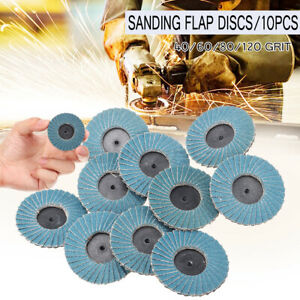 10PCS-FLAP-GRINDING-SANDING-DISCS-50mm-2-039-039-40-60-80-120-GRIT-ANGLE-WHEEL-ZIRCON
