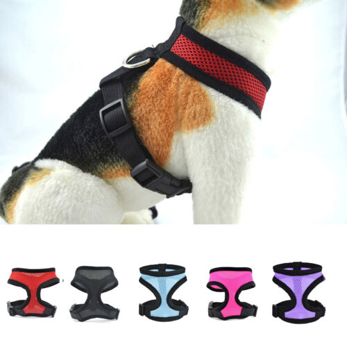 Pet Control Harness for Dog Puppy Cat Soft Walk Collar Safety Strap Mesh Vest US
