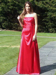 Red-satin-bridesmaid-dress-evening-prom-party-dress-lace-up-back-SZ-8-22