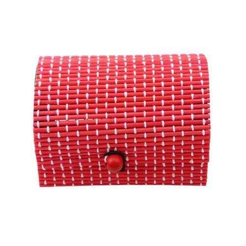 Bamboo Wooden Storage Box Organizer Jewelry Beads Makeup Holder Storage Box DP
