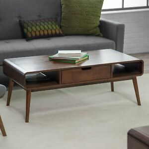 Mid Century Coffee Table With Storage 7