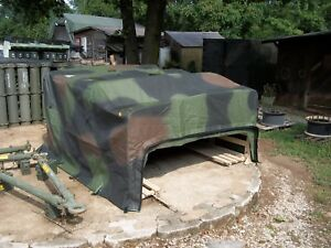 Details about MILITARY SURPLUS HMMWV M998 TROOP SEATS TRUCK CARGO COVER  WITH BOWS SET ARMY