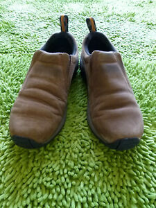 Brown Suede Slip On Shoes Boots Size