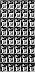 40 x CRYPTO STAMP BLACK / SCHWARZ ★★★★★ ORIGINAL | NEW / NEU | MINT / POSTFRISCH