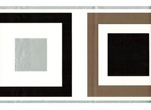 Details About Tile Square Silver Trim Wallpaper Border Geometric Retro Kitchen Wall Decor